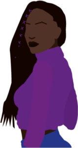 Femme noire crop top